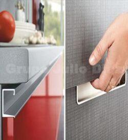 Tiradores de cocina: Tipo barra varias medidas acabado acero inoxidable